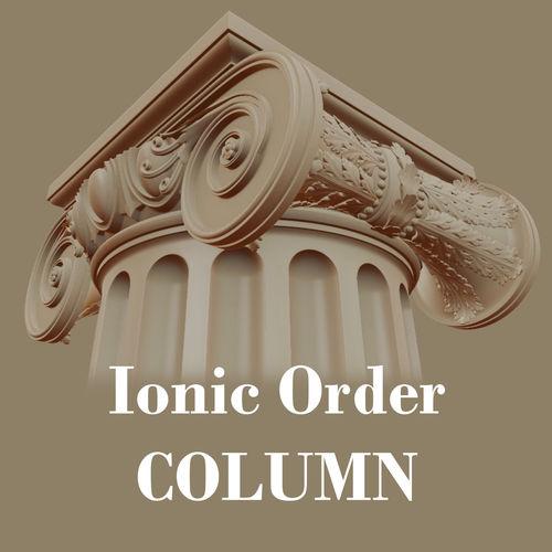 ionic order - column 3d model obj mtl fbx stl blend 1