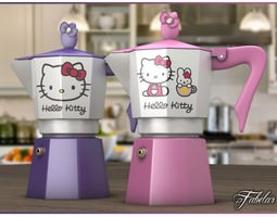 3D model Hello Kitty moka collection