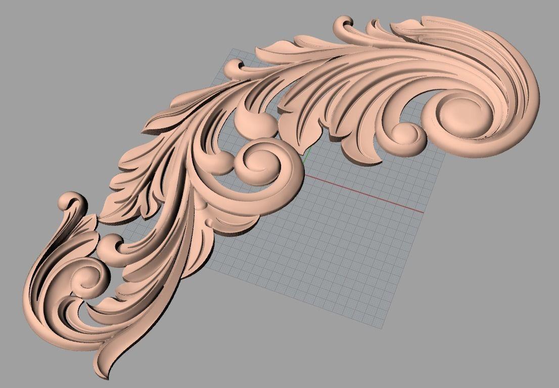 Door flower relief model stl format for cnc carving e499 3d model stl