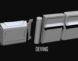 Batman JL-DOJ utility belt 3D print model