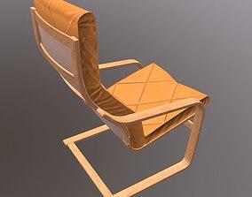 3D asset Soft Wooden Chair