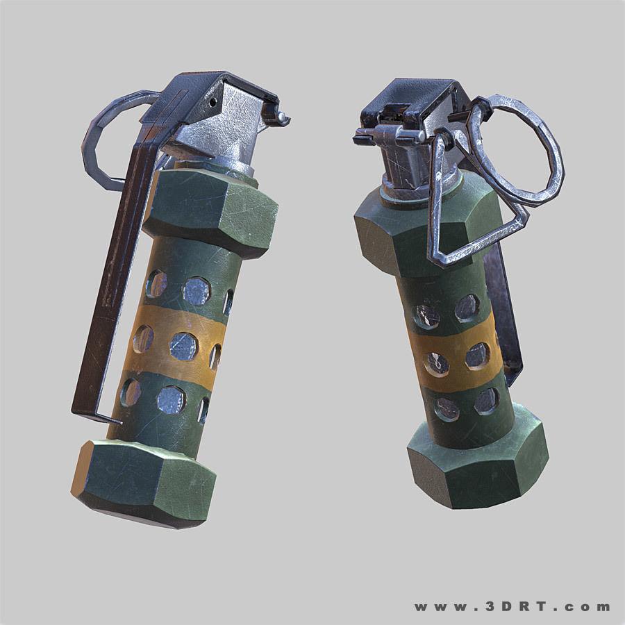 Flashbang grenade animated 1st person