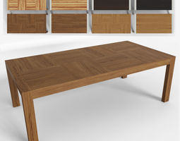 wooden 3D model dining table