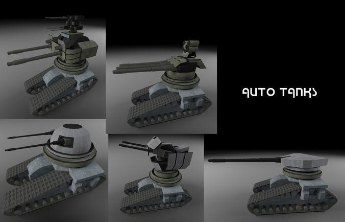 drone tanks 3d model max obj mtl 3ds fbx tga 1