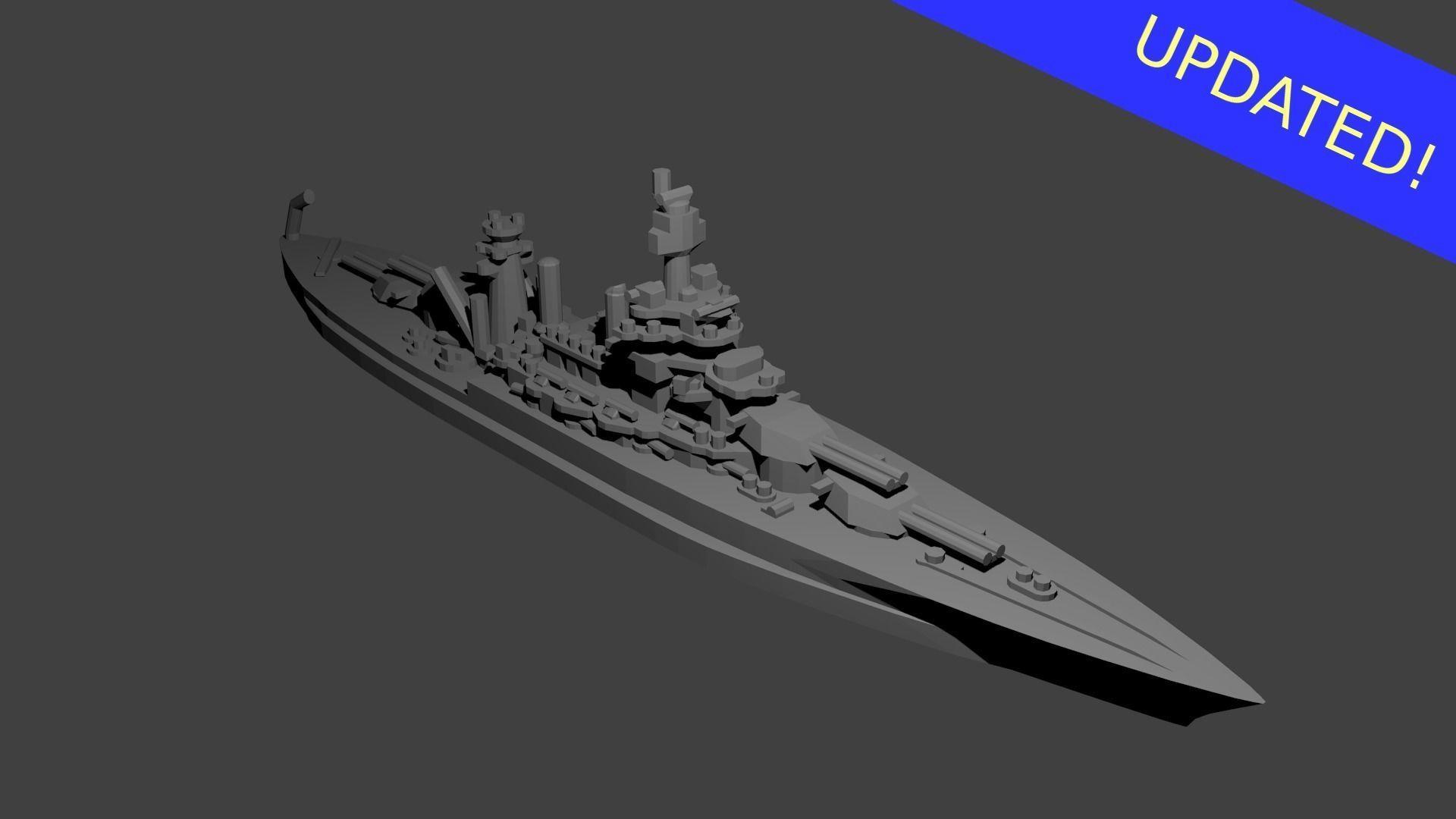 US Colorado Class Battleship