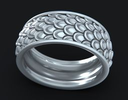 scaled wedding ring 3d printable model