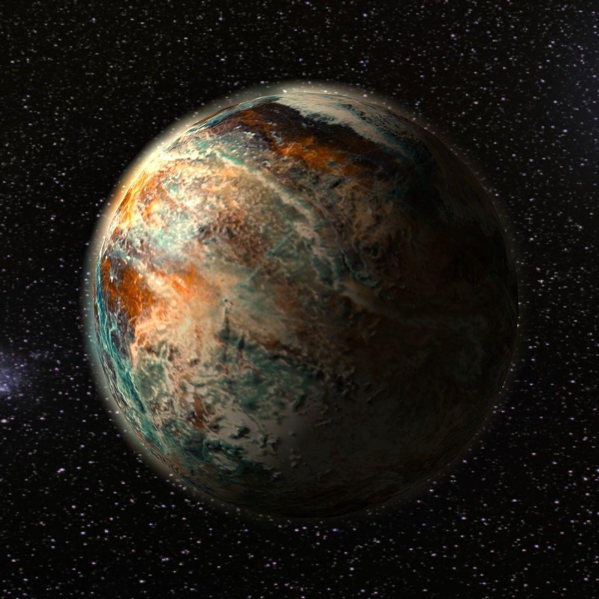 Alien fantasy planet
