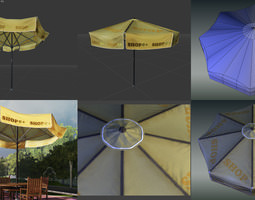 Sun umbrella 3D asset