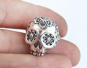 Skull ring printable jewelry model calavera