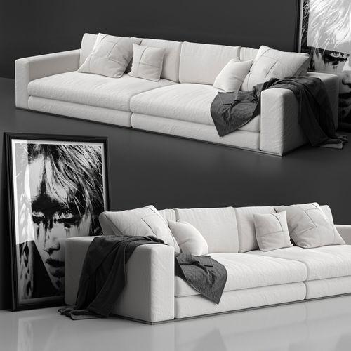 sofa minotti hamilton 3d model max obj mtl fbx 1