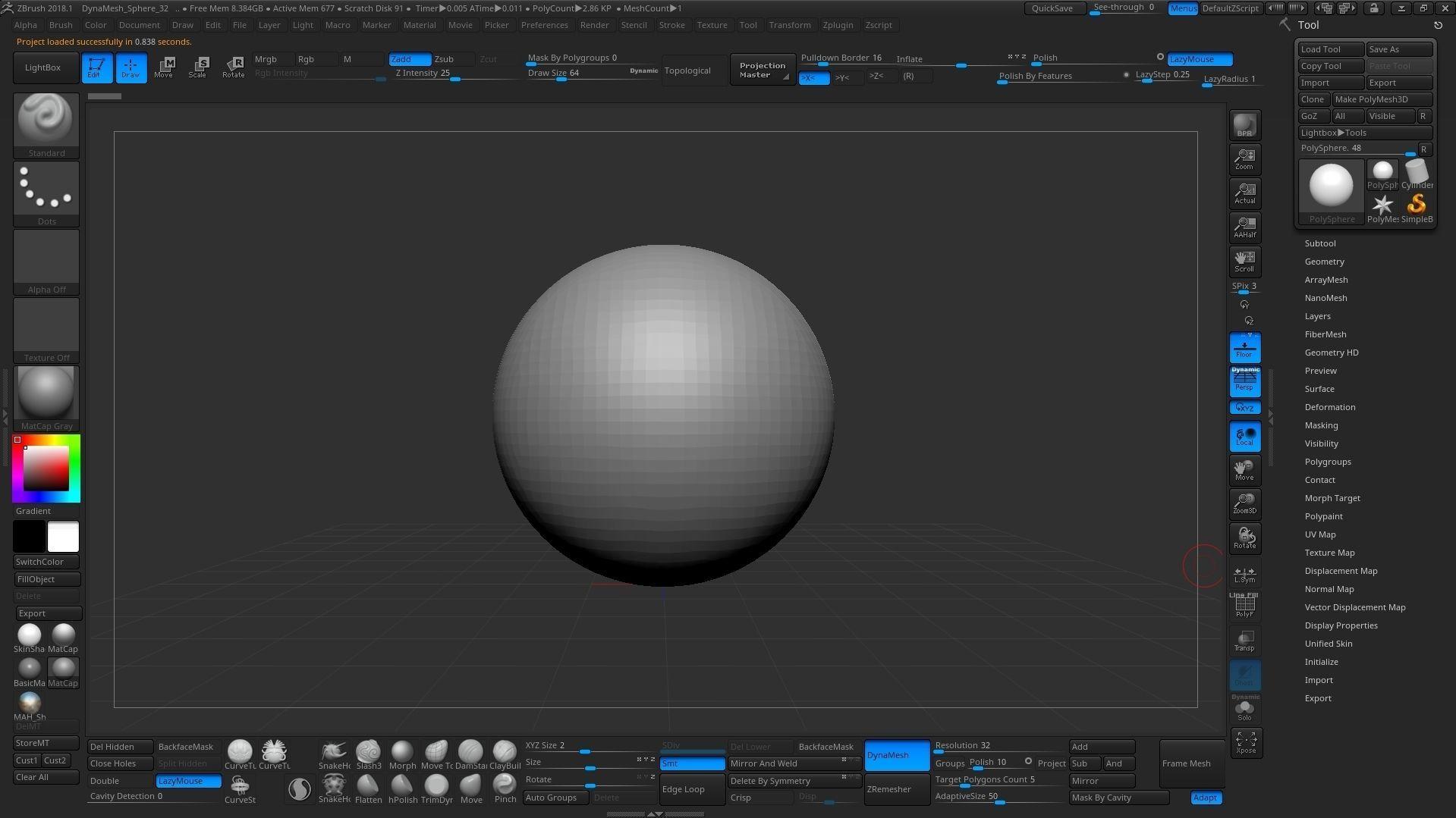 ZBRUSH 2019 Customize UI | 3D model