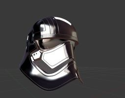 Captain Phasma Helmet 3D asset
