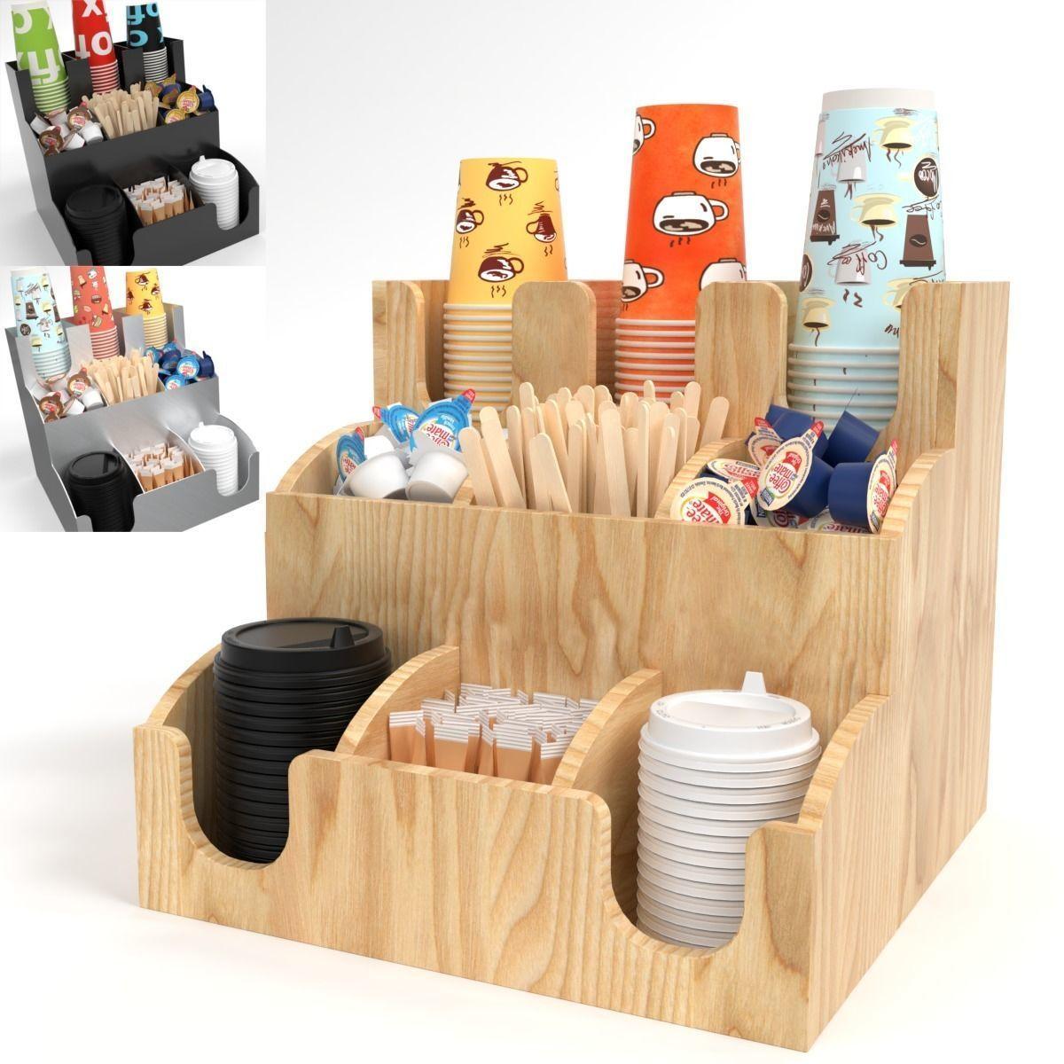 Bar Holder Organizer Paper Cup Dispenser set Blender Cycles