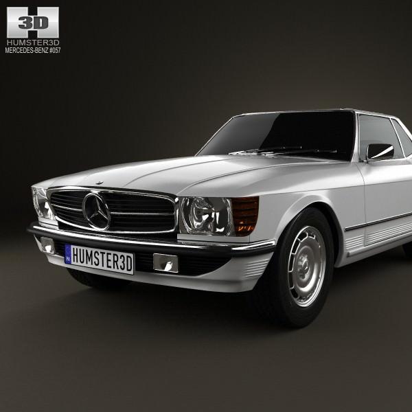 mercedes benz sl class r107 coupe 1972 3d model max obj. Black Bedroom Furniture Sets. Home Design Ideas