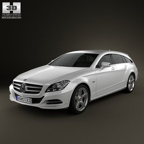 2009 Mercedes Benz Cl Class Exterior: Mercedes-Benz CLS-Class X218 Shooting Brake 2013 3D Model