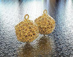 bro icosahedron earring 3d print model
