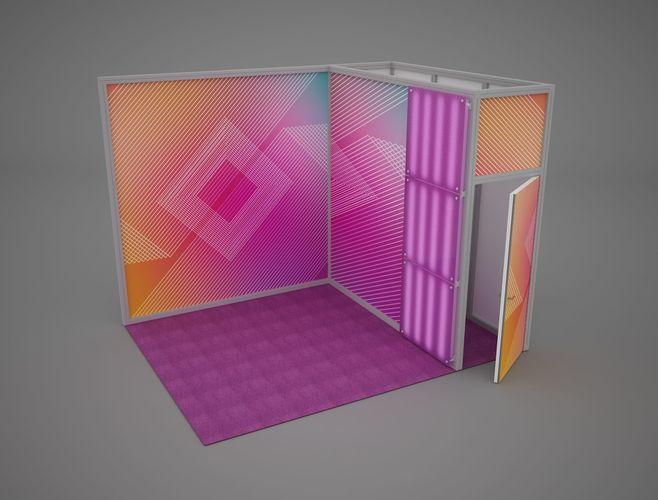exhibition stand octanorm maxima 4x3 m 2 3d model max obj mtl fbx mat 1