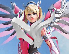 3D print model Overwatch Mercy Pink Headband