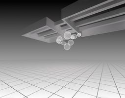 hanging decor light element 3D model