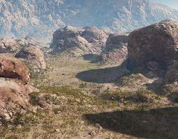 rocky terrain in vue 3d model