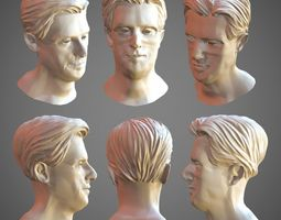 3D asset realtime Hair model - lowpoly and sculpt