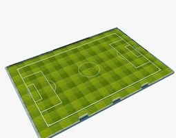 Soccer Pitch with Football 3D