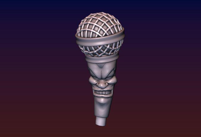 singing microphone 3d model obj mtl fbx stl blend 1
