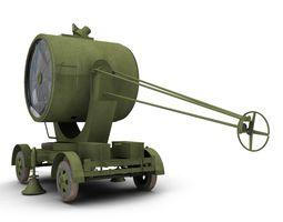 British 150cm Mobile Searchlight 3D