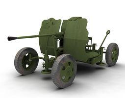 russian 25mm 72-k anti-aircraft gun m1940 3d