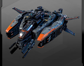 Spacecraft Fighter - R25 3D asset
