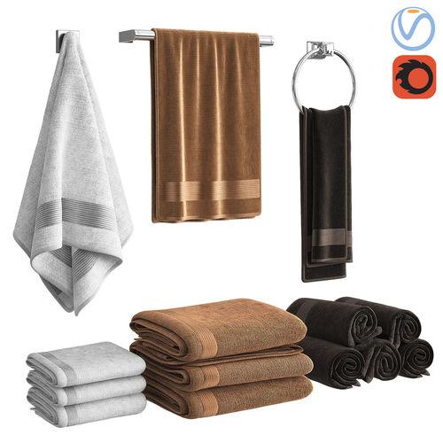 towels 3d model max obj mtl 1