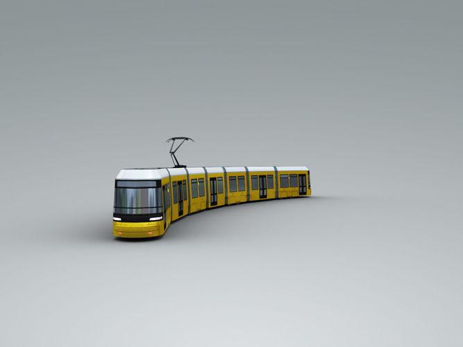 low poly tram 3 3d model max fbx tga 1