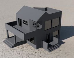 3D printable model villa home