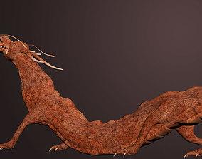 rigged CGI Dragon Rigged 3DSMax low-poly 3D