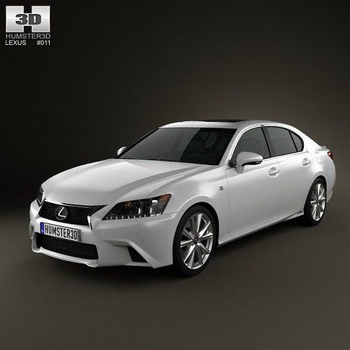 Lexus Gs F Sport 2015 3d Model: 3D Lexus GS F Sport Hybrid L10 2012