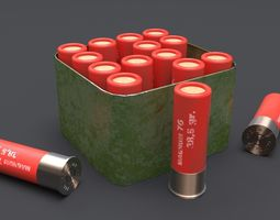 gun Hunting cartridges 3D model