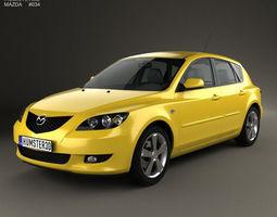 Mazda 3 hatchback 2003 3D