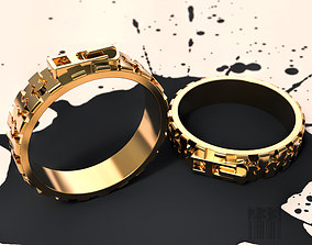 3D printable model ring lock