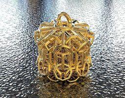 3d printable model bro woven cylinder pendant