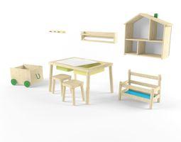 Children room furniture set from IKEA 3D
