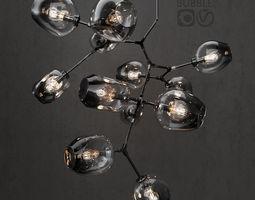 3D model Branching bubble 12 lamps DARK BLACK