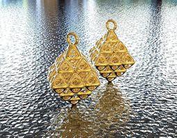 3d printable model bro woven octahedron 2 earring