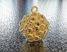 3d print model bro woven dodechedron  2 pendant