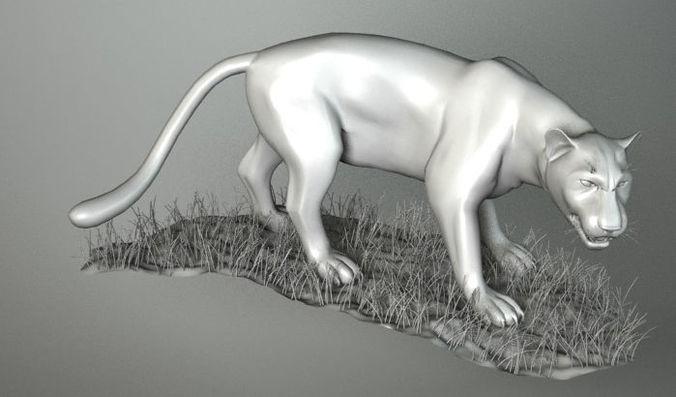 leopard 3d model 3ds 1