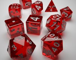 role playing dice - complete set - 3d print ready