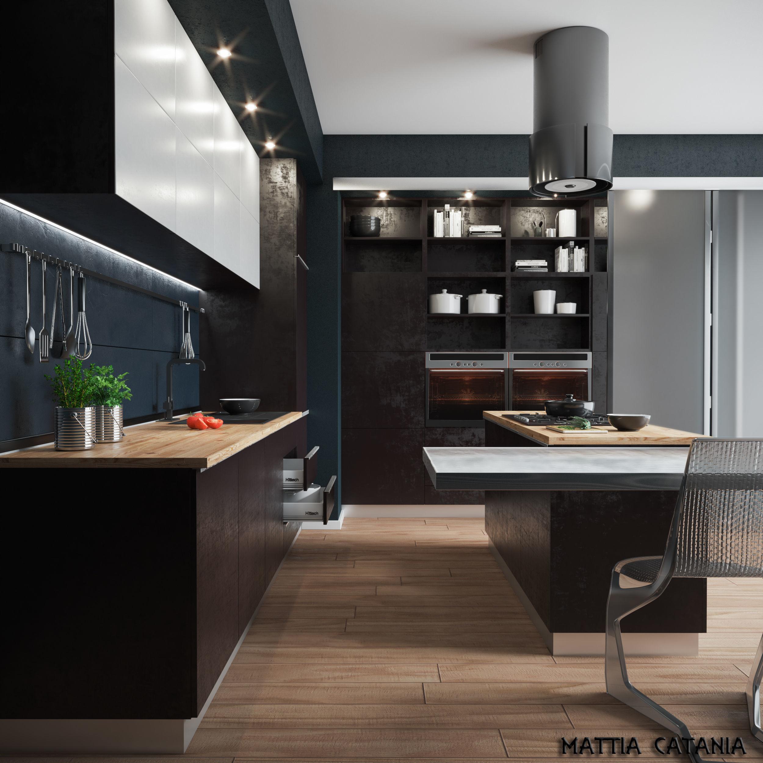 Industrial Interior Modern Kicthen
