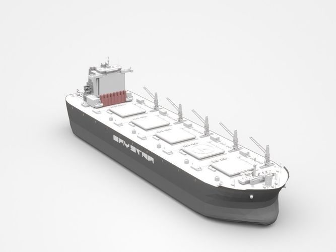 large grey freight ship  3d model max obj mtl 3ds c4d lwo lw lws ma mb 1