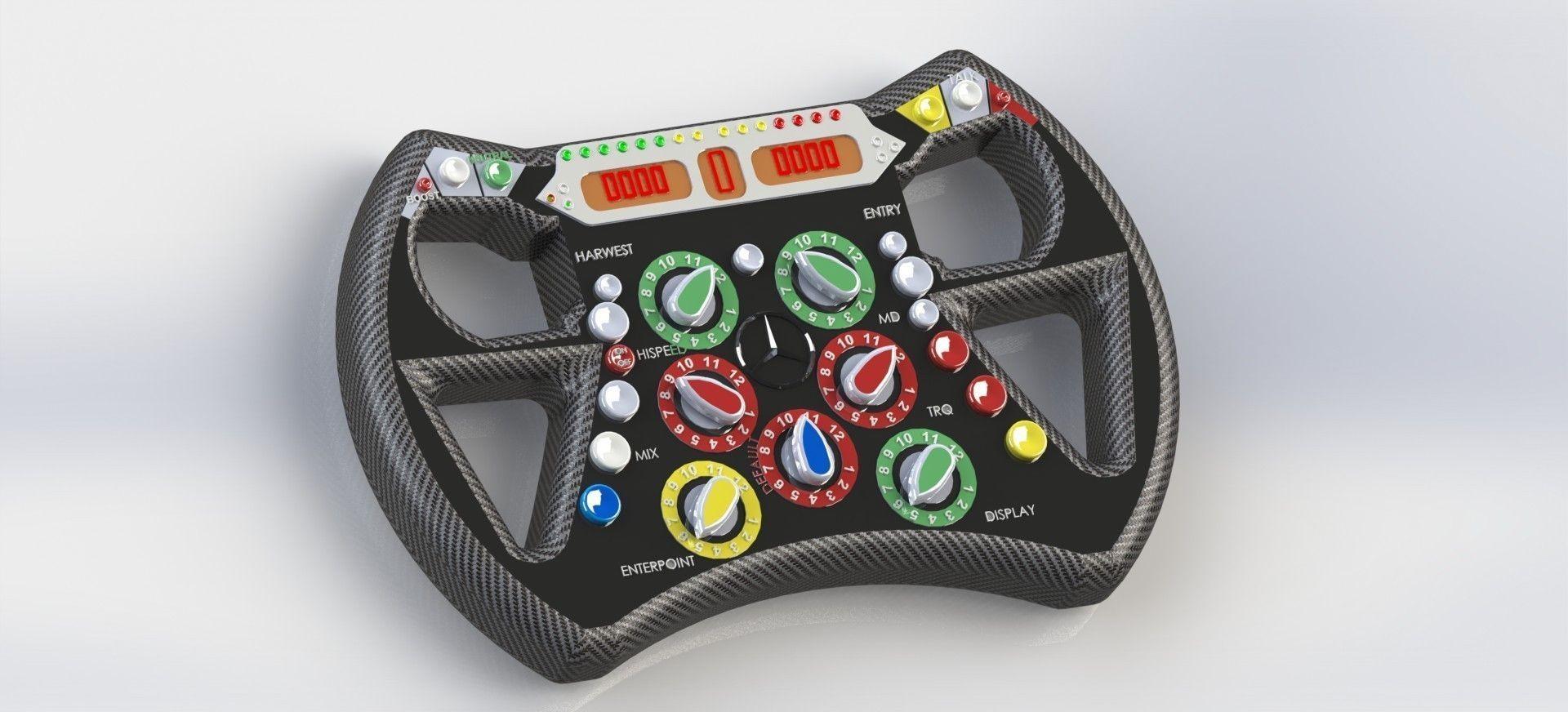 steering wheel formula 1 free 3D Model .sldprt .sldasm ...