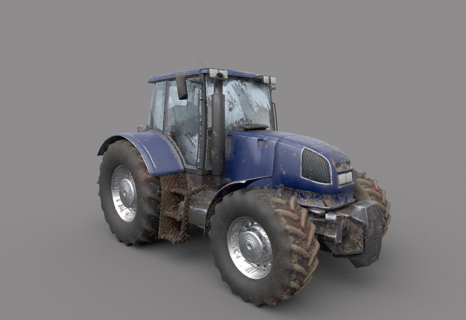 Dirty Tractor lowpoly