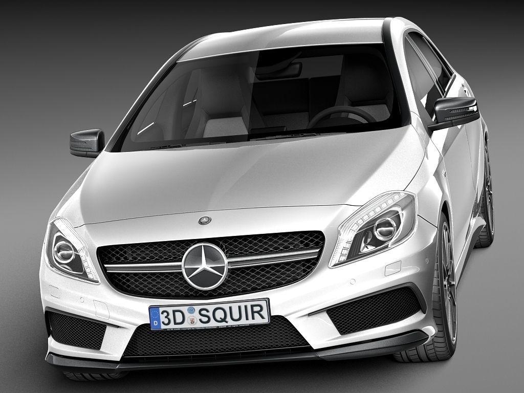 Mercedes benz a45 amg 2014 3d model max obj 3ds fbx for Mercedes benz 2014 models